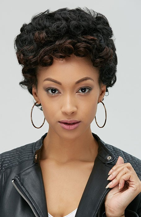 Updo for Short and Thick Curly Hair