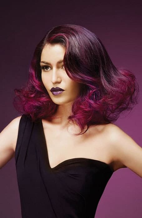 Violet Red Hair Colour