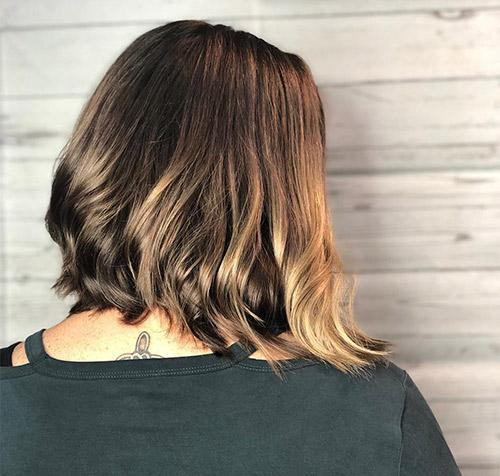 Volumized Inverted Bob