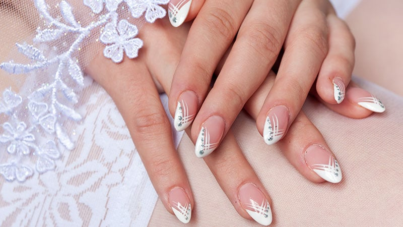 Wedding Almond Shaped Nails