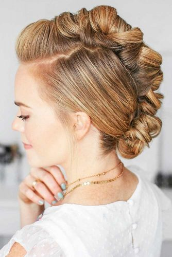 Wrapped Braid Mohawk Updo #mohawk #braids