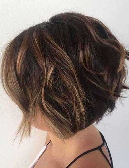 16. Stacked Bob With A Subtle Balayage