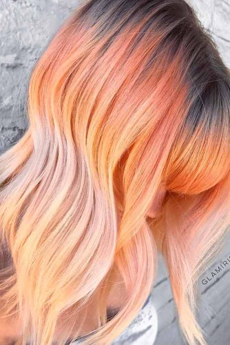 Amazing Peach Hair