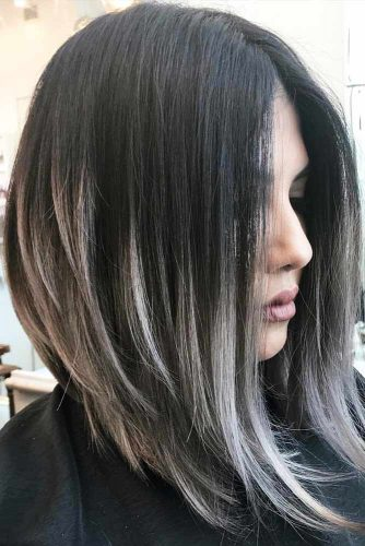 Ash Ombre Inverted Bob Hairstyles #ashhair #ombrehair #invertedbob