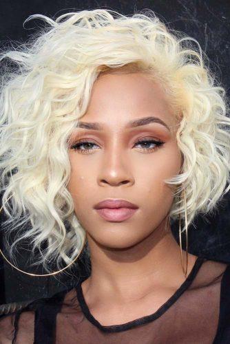 Asymmetrical Wavy Haircut #shortbobhairstyles #bobhairstyles #hairstyles #wavyhair #blondecolor