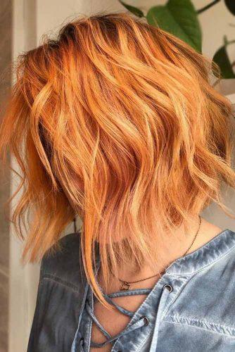 Auburn A line Layered Haircut #shaghairstyles #shaghaircuts #mediumlength #hairstyles #auburnhair