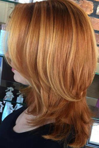 Auburn Straight Shoulder Length Layered Haircuts Hairs London