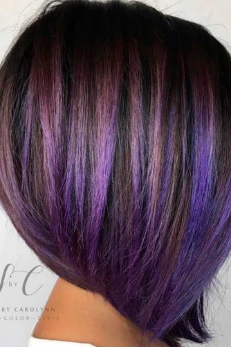 Black and Purple Tresses