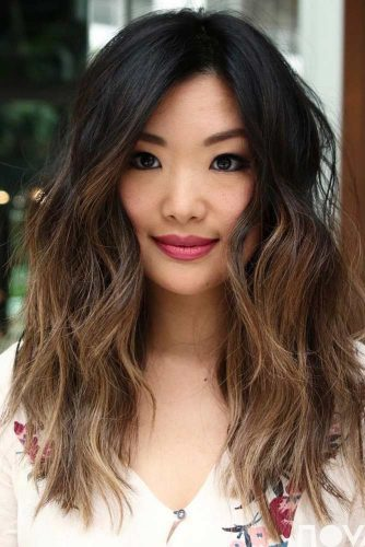 Black To Brown Ombre Hair #blackombre #wavyhairstyle