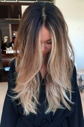 Blonde And Dark Brown Ombre