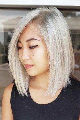 Blonde Blunt Medium Haircuts #mediumlengthhaircuts #mediumhair #haircuts #longbob