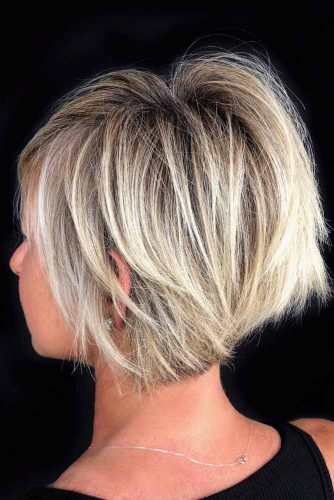 Blonde Color Side Swept Texturized Haircuts #shorthairstyles #shorthair #hairstyles #bobhairstyles #blondehair