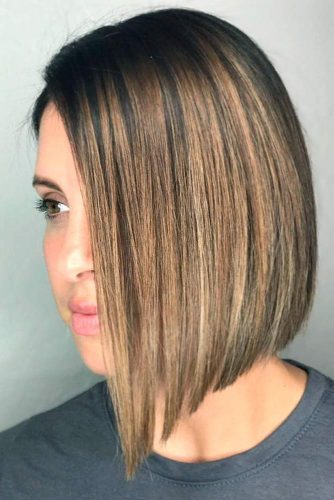 Blonde Highlights for Dark Hair #brownhair #bobhairstyles