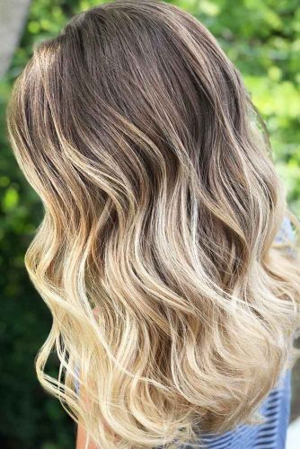 Blonde Ombre Hair Ash Brown #blondehair #brunette #ombre