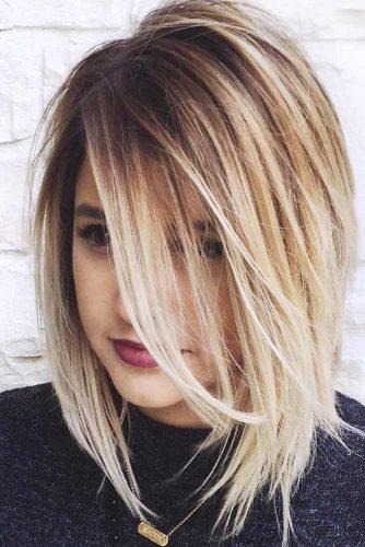 Blonde Ombre Layered Bob #layeredbob #blondehair #ombrehair