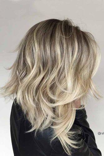 Blonde Sexy Stacked Layers #layeredhaircuts #layeredhair #haircuts