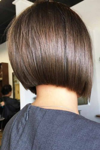 Blunt Bob Cuts Brown #brownhair #sleekhair #bob