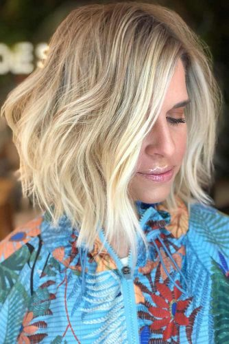 Bob Haircut with Highlights #wavyhair #blondehair #highlights #bob