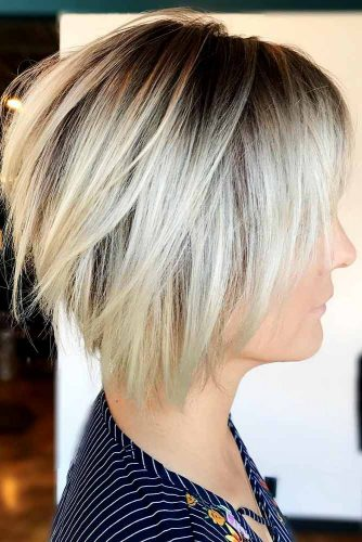 Bob hairstyles are a great way to even out thicker tresses