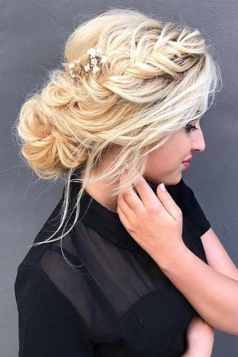 Braided Crown For Long Hair #updo #bun #braids #thinhair