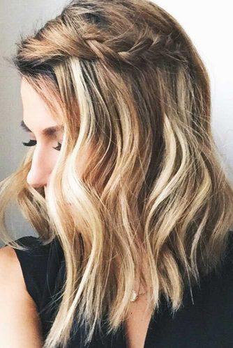 Braided Style For Medium Wavy Hair #wavyhair #braids