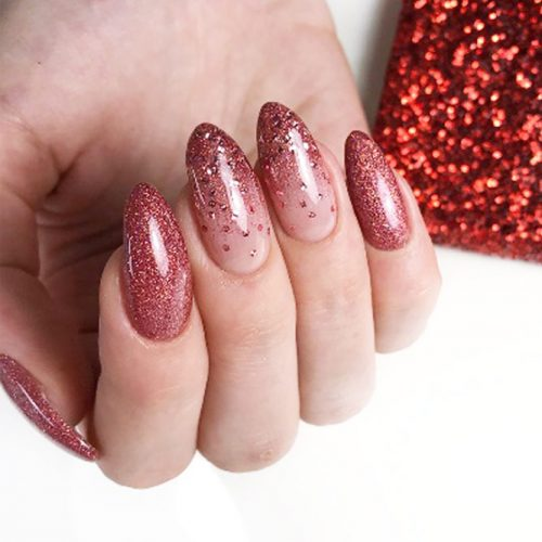 Bright Glitter Ombre Nails For A Party #glitternails