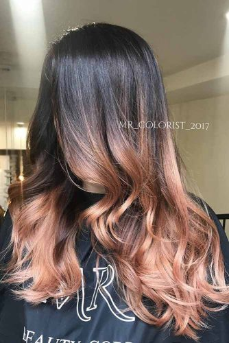 Brown Ombre with Bright Strands picture2