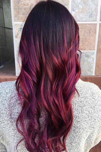 Brown Red And Purple Ombre Hair #purpleombre #redombre