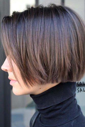 Brown Short Bob Haircut #haircutstyles #haircuts #shorthaircuts #bobhaircut