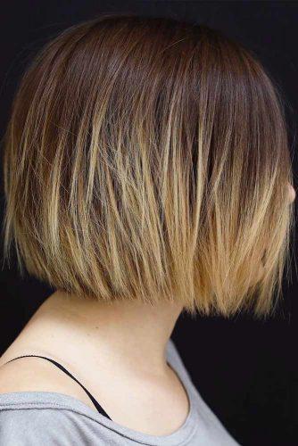 Brown To Wheat Hair #shortombrehair #hairstyles #shorthair #bobhaircut #wheatcolor