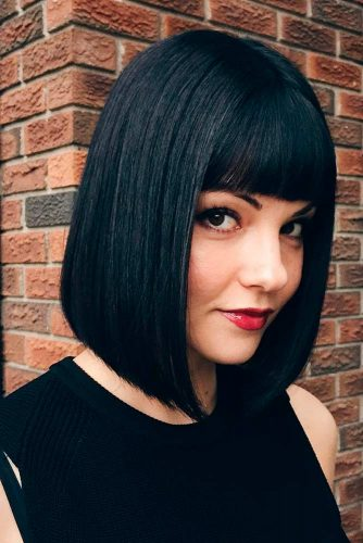 Brunette Bob Hair Cuts with Bang picture2