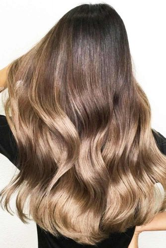 Brunette to Dark Blonde Ombre #blondehair #brunette #ombre