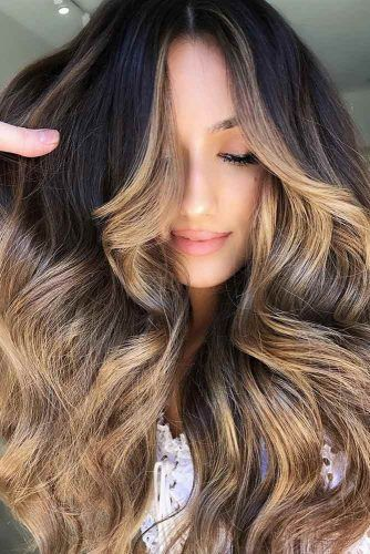 Brunette With Dirty Blonde Ends #blondehair #brunette #balayage