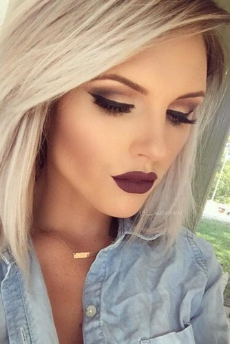 Burgundy Lipstick Matte Makeup Ideas to Try This Season picture 1