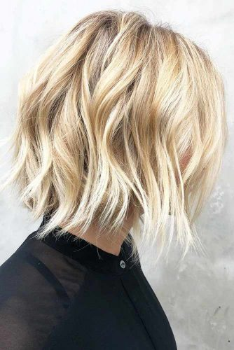 Buttery Blonde Babe #blondehair #wavyhair #bob