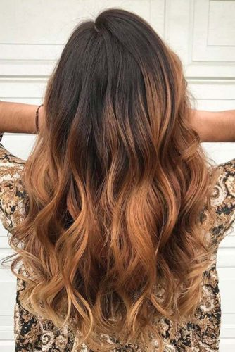 Caramel Ombre Hair Color for Brunettes picture 3