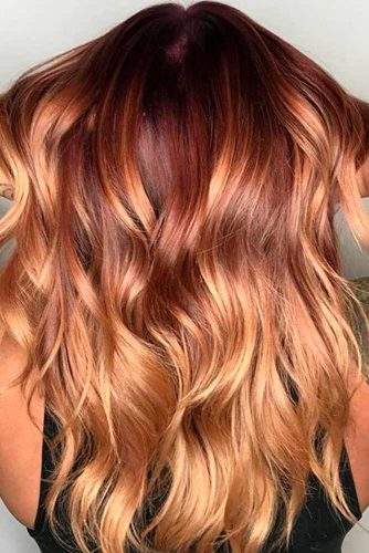 Chocolate and Golden Blond Ombre
