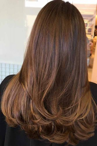 Chocolate Brown Hair with Highlights picture3
