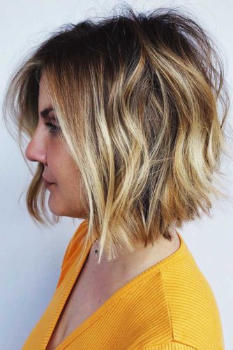 Choppy Bob Cut With Balayage #bob #wavyhair #shaggy
