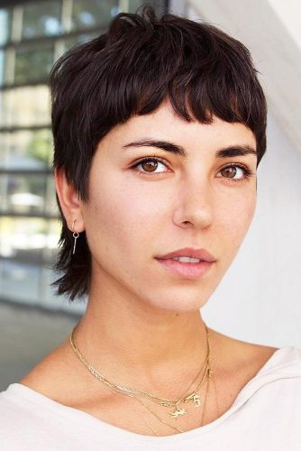 Classy Pixie With Baby Bangs #pixie #bangs