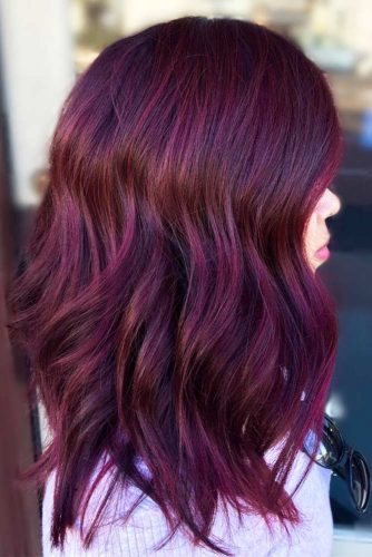 Colored Ombre Hair with Layers