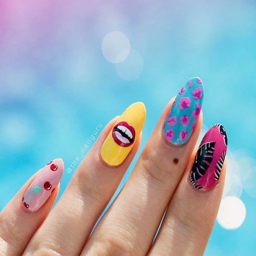 Colorful Eye-Catchy Almond Nails to Make Your Look Bright Picture 3