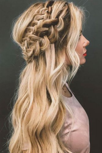 Crowned Hairstyle for Winter Season with Long Hair Picture 2