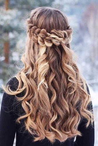 Crowned Hairstyle for Winter Season with Long Hair Picture 3