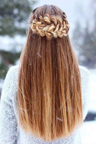 Crowned Hairstyle for Winter Season with Long Hair Picture 1