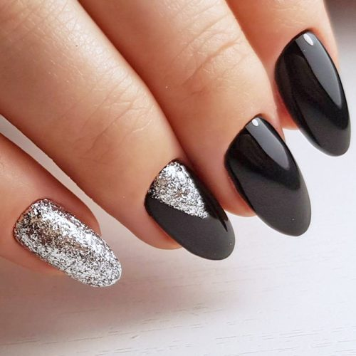 Cute Black and Silver Nails Designs picture 6