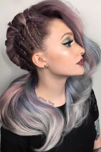 Cute Braids and Bubble Ponytail for Long Hair picture 2