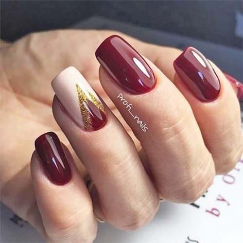 Cute Burgundy Nail Designs picture 1