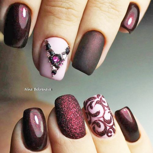 Cute Burgundy Nail Designs picture 2