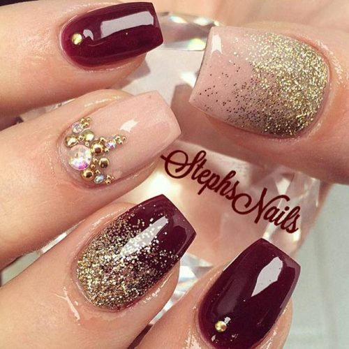 Cute Burgundy Nail Designs picture 3
